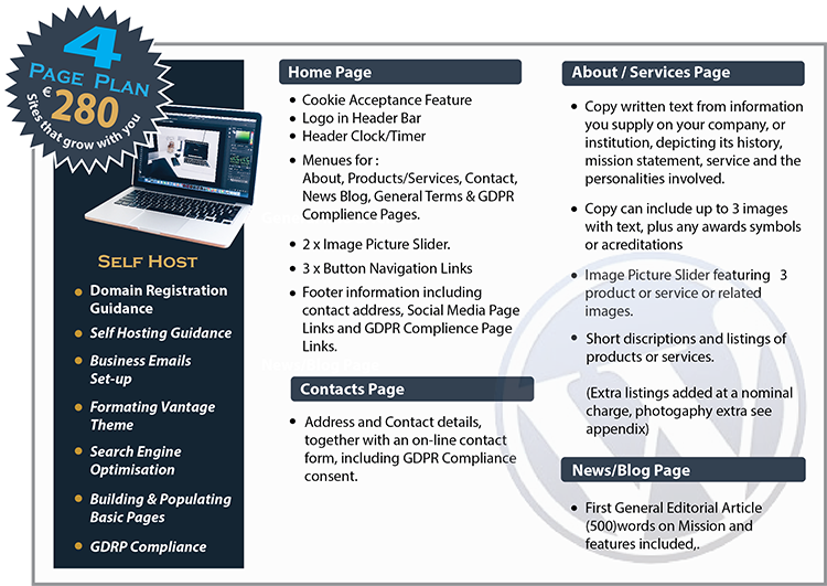 Mac Creative 4 Page Web Plans