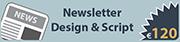News Letter Design & Script Rates